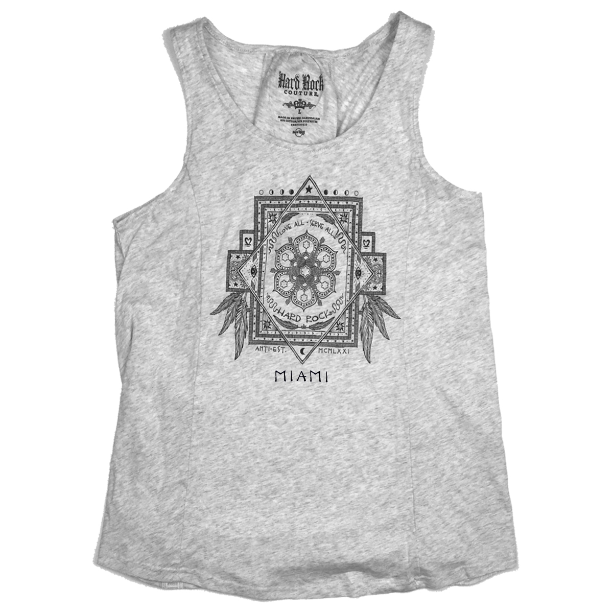 Couture Laced Back Tank Miami 0