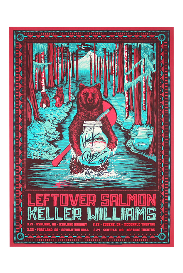 Signed Leftover Salmon Poster