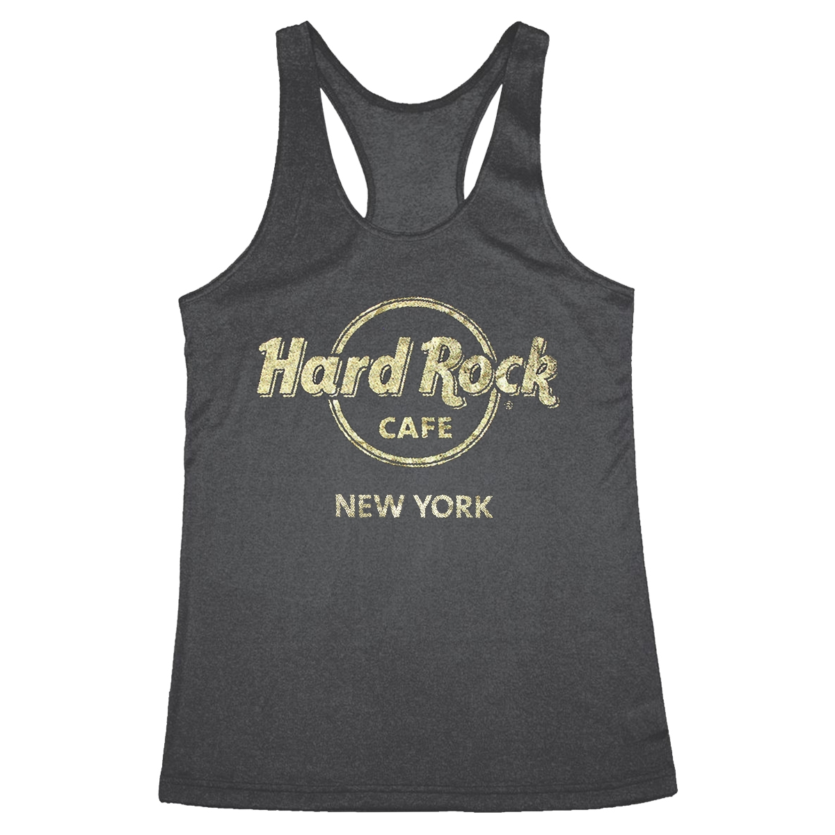 9c049427b43a92 Ladies Metallic Foil Logo Tank New York