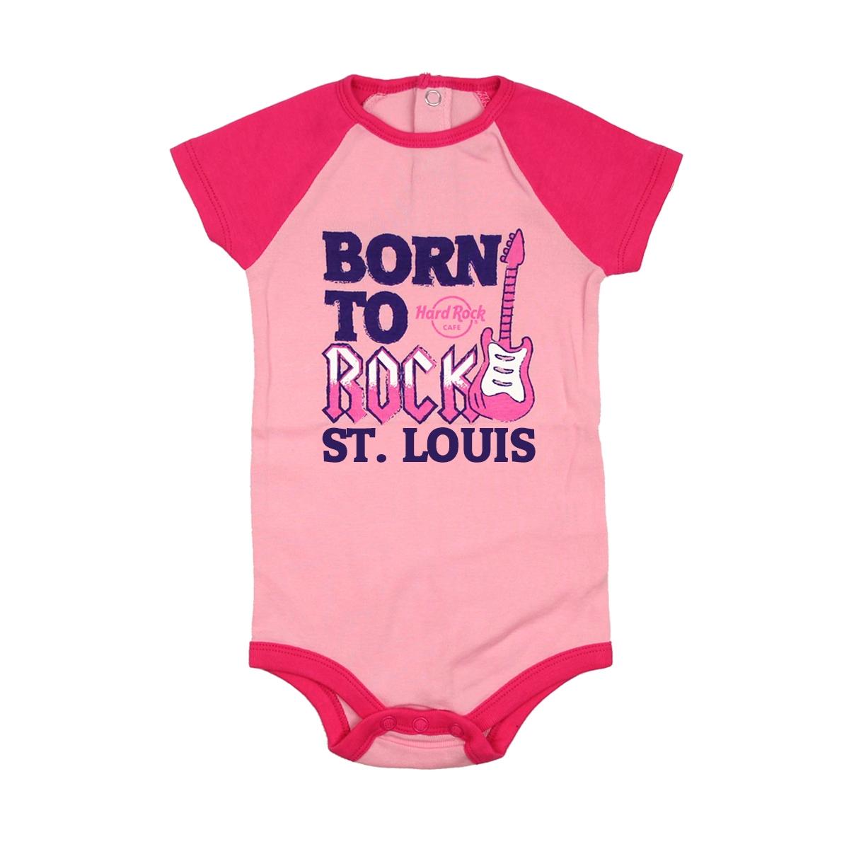 Girls Infant Colorblock Raglan Onesie St Louis 0