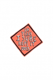 Road Work Sticker
