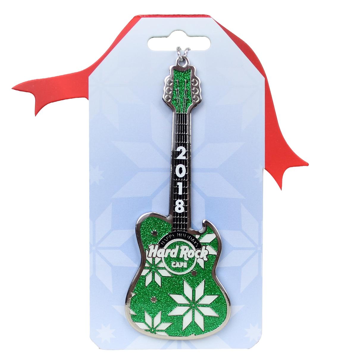 Green Guitar Ornament 18 0