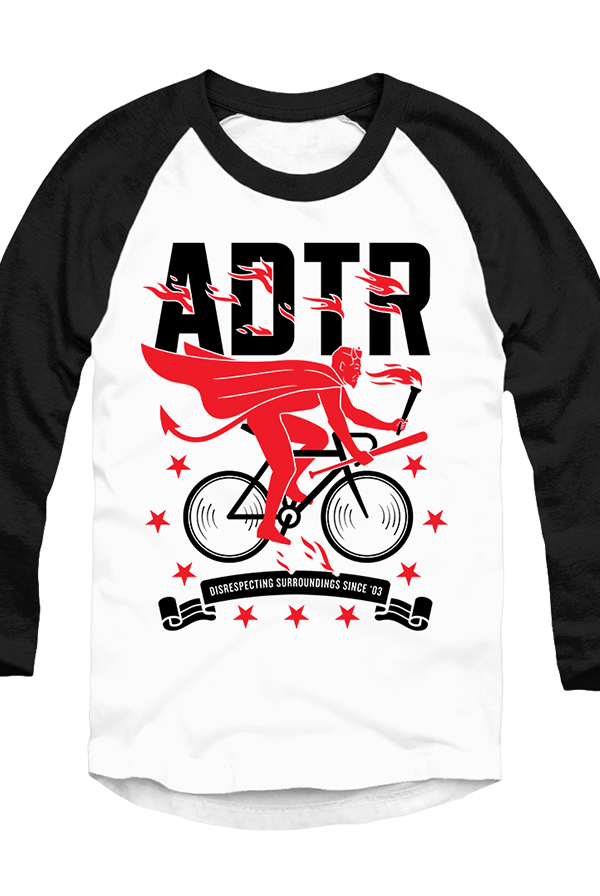 Devil Rider Raglan (White/Black)