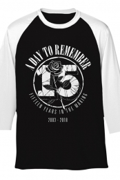 15 Year Tour Raglan (Black/White)