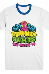 SMOSH Summer Games Tee (White/Blue)