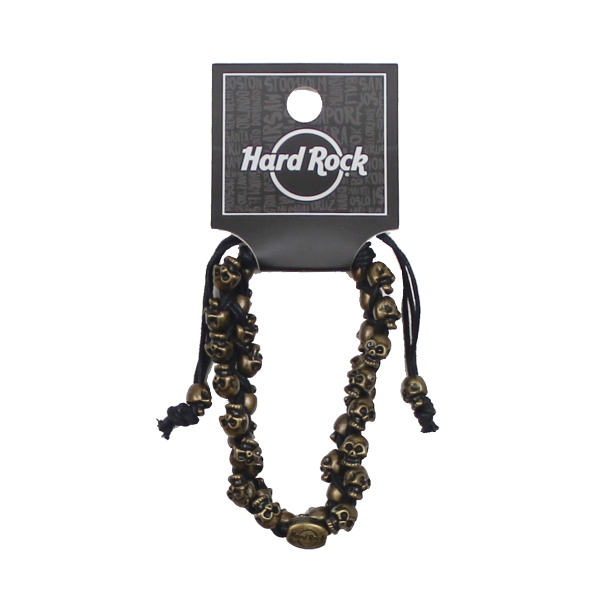 Mini Skull Bracelet Brass Black 0