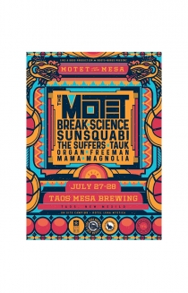 Motet On The Mesa Screen Printed Poster