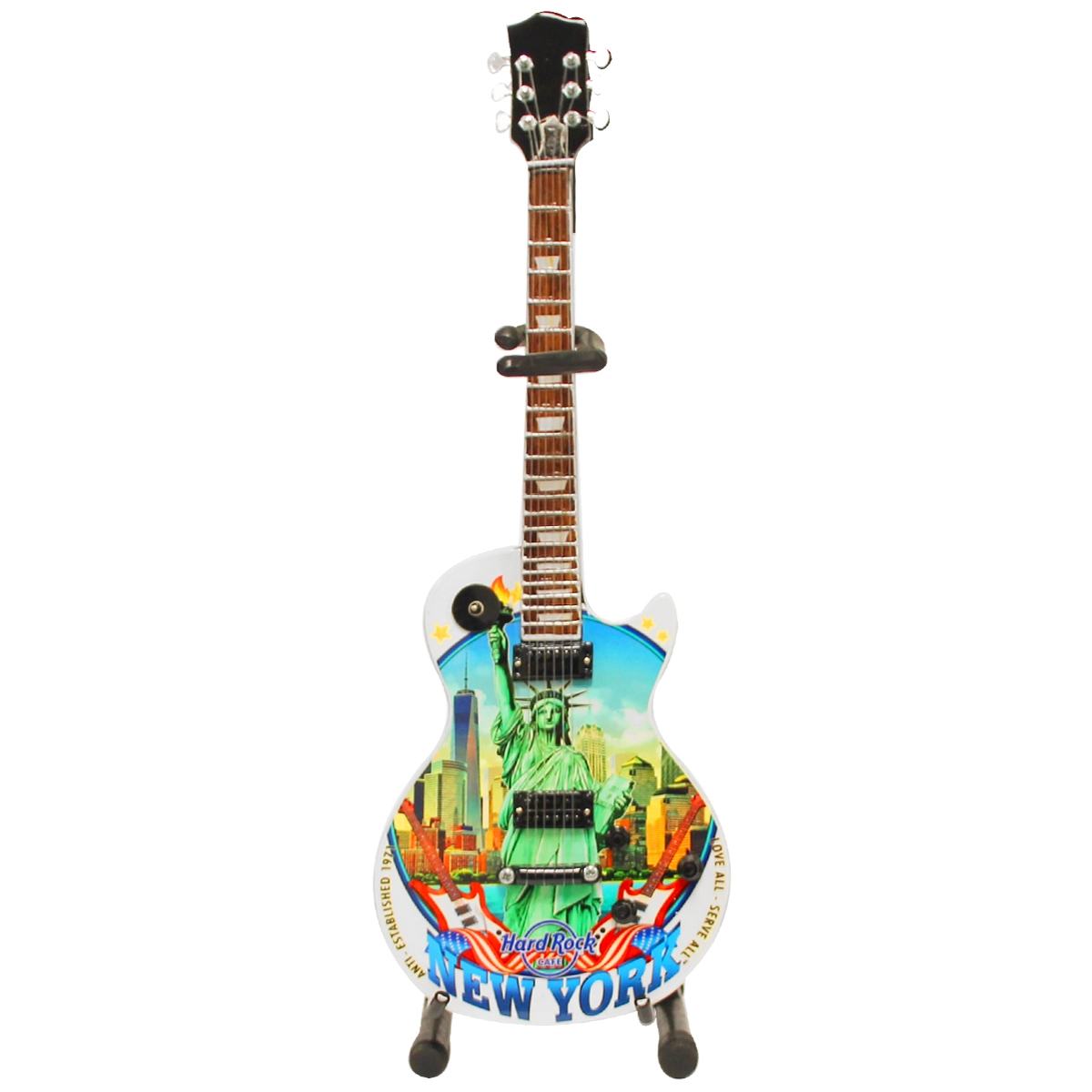 Mini City Guitar with Stand New York 0