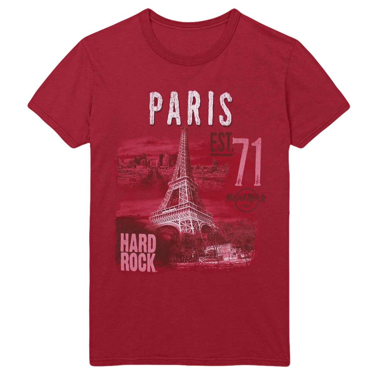 Ladies Alt City Scoop Tee Red V2  Paris 0