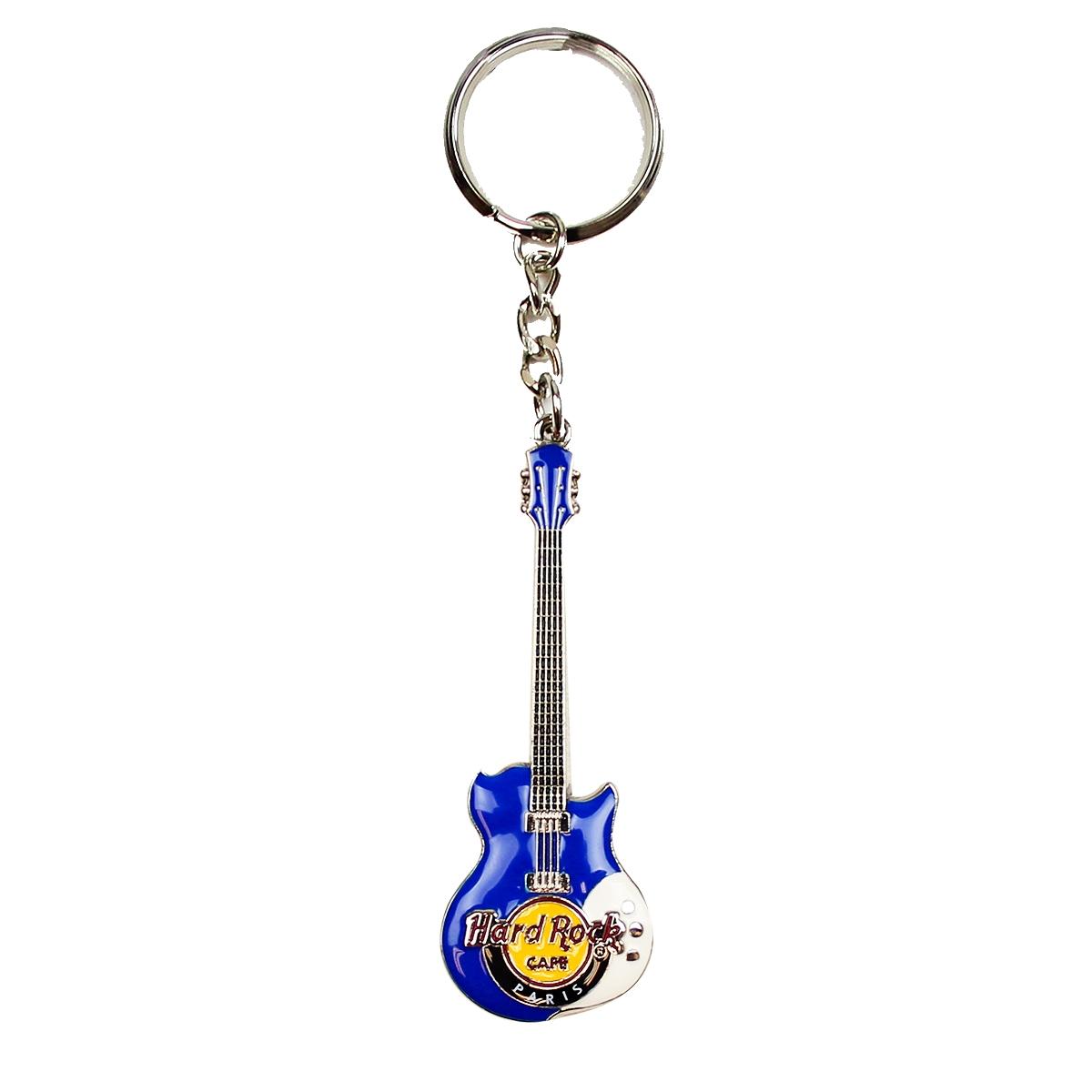 HRC 3D Enamel Guitar Keychains Paris 0