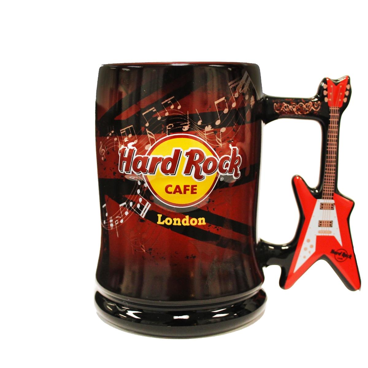 HRC V Shaped Guitar Handle Mug London 0