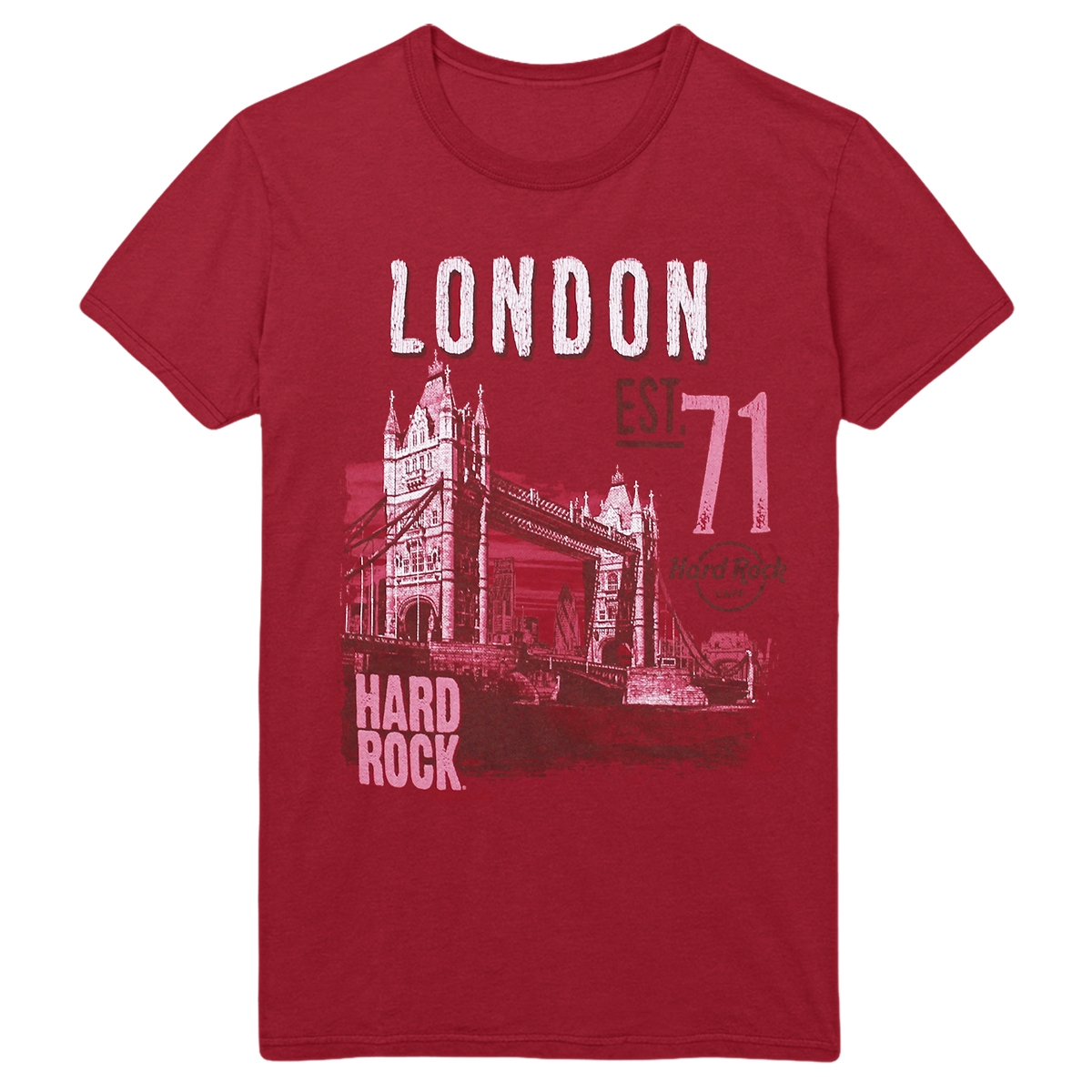 Ladies Alt City Scoop Tee Red V2 London 0