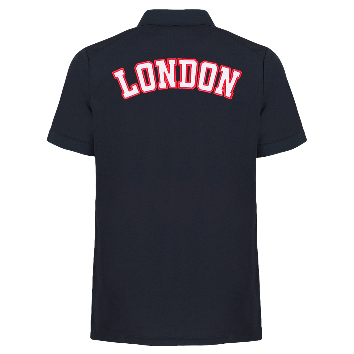 Mens Star Location Polo Navy London 1
