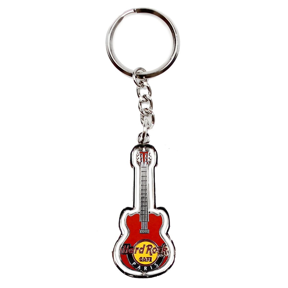 HRC Assorted Guitar Spinner Keychain Paris (Red) 0