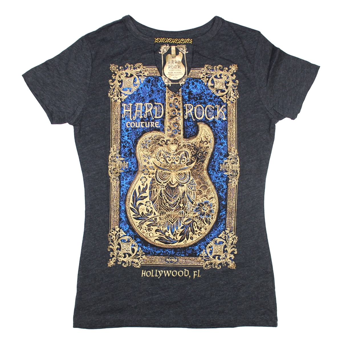 Ladies Couture Framed Guitar Tee Hollywood FL 0