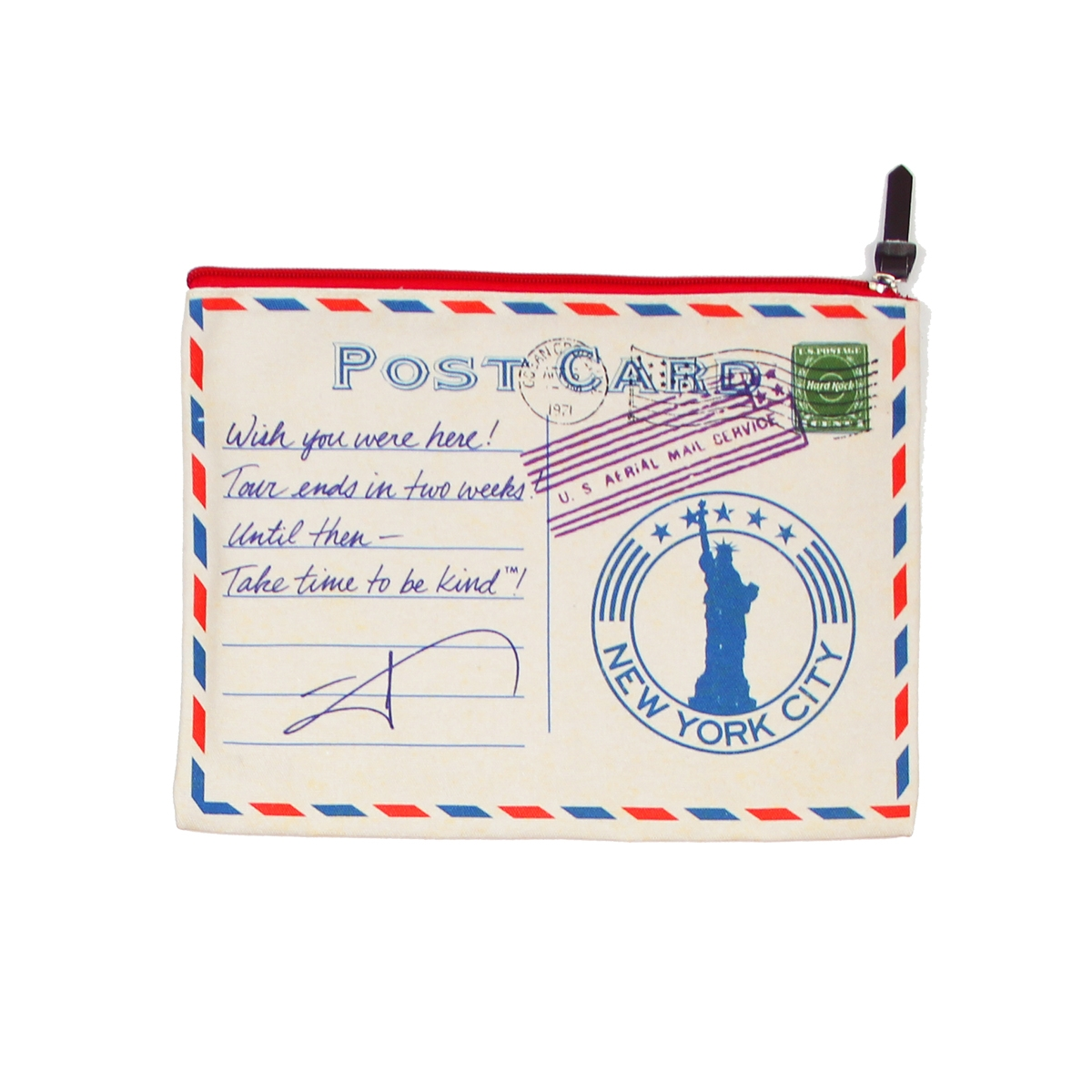 3 Pack Pouches in Passport Stamps Print 2
