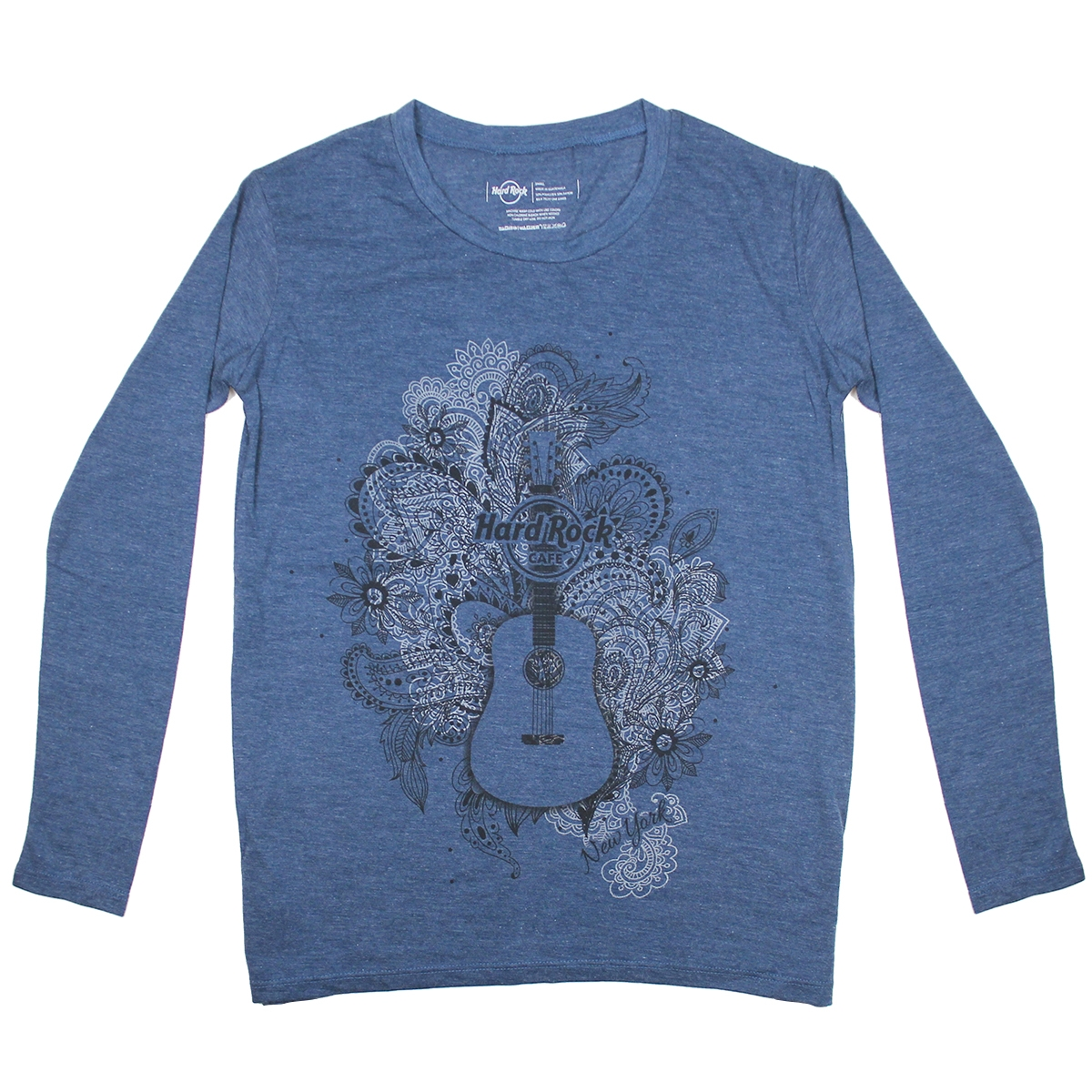 c9b973cd Ladies Navy Paisley Guitar Tee, New York