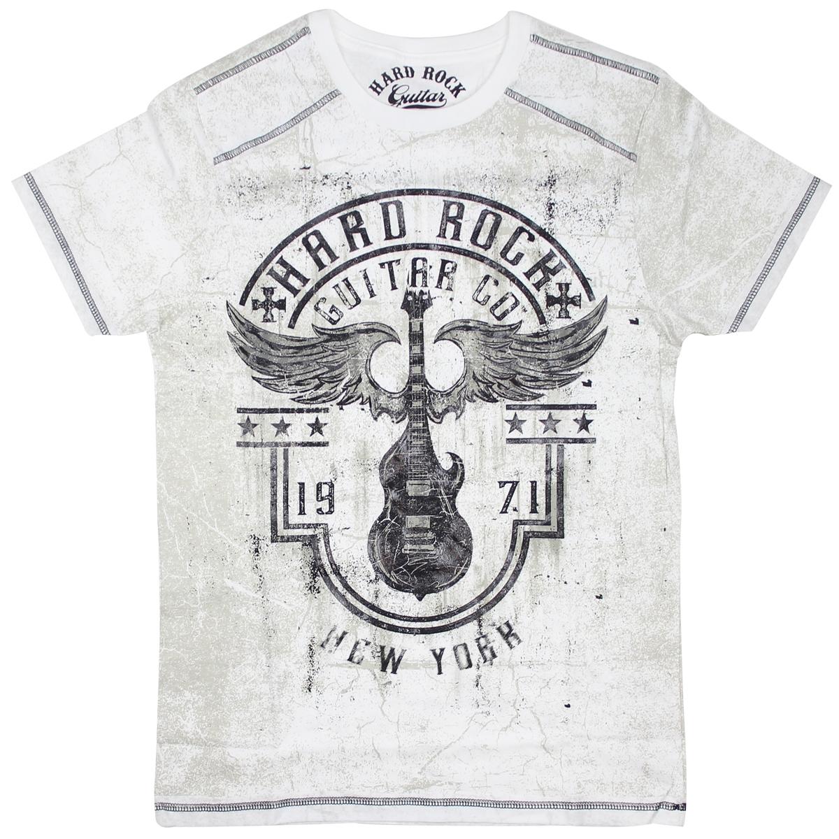 Men's Guitar Company Winged Guitar Tee, New York 0