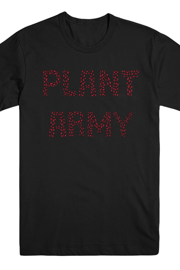 Red Plant Army Tee (Black)