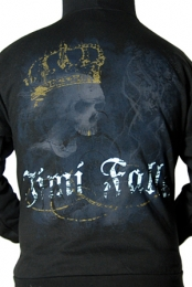 Skull Crown Zip Up Hoodie