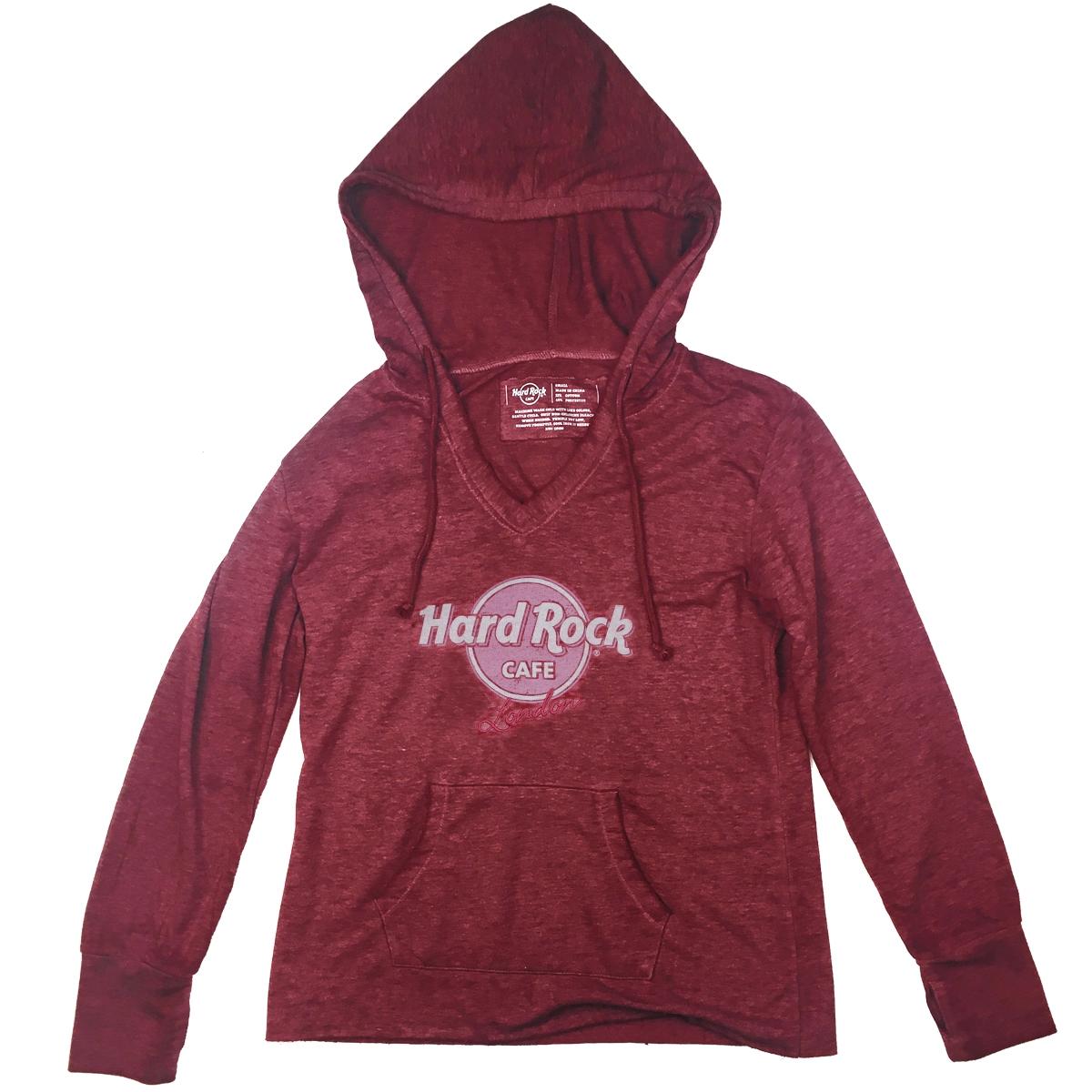 Ladies Raspberry Light Weight Hoodie, London 0