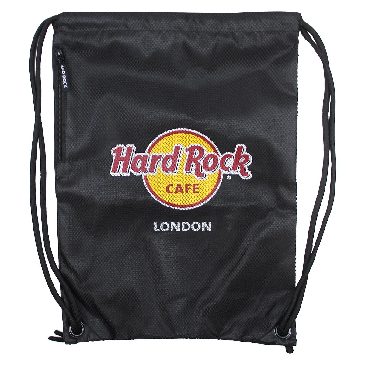 Distressed Mesh Cinch Bag, London 0