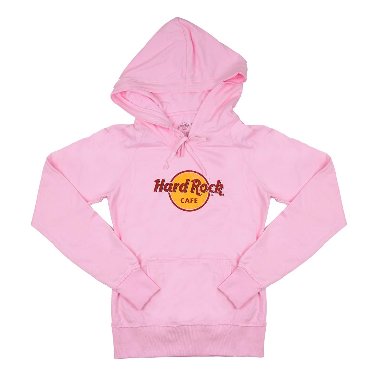 4d9c1e60ba13ea Ladies Logo Terry Hoodie Pink