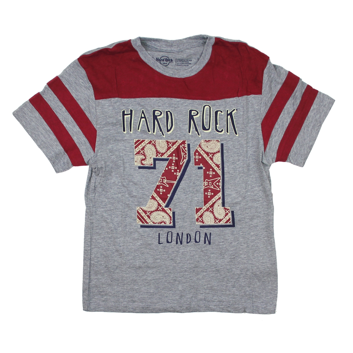 Boys Red Glow Football Tee, London 0