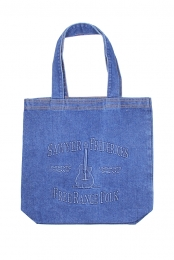 Free Range Folk Embossed Denim Tote