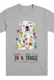 Dont Get Your Tinsel In a Tangle - Eggnog The Bulldog