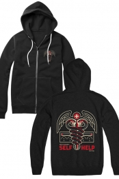 Snake Zip Up Hoodie (Black)
