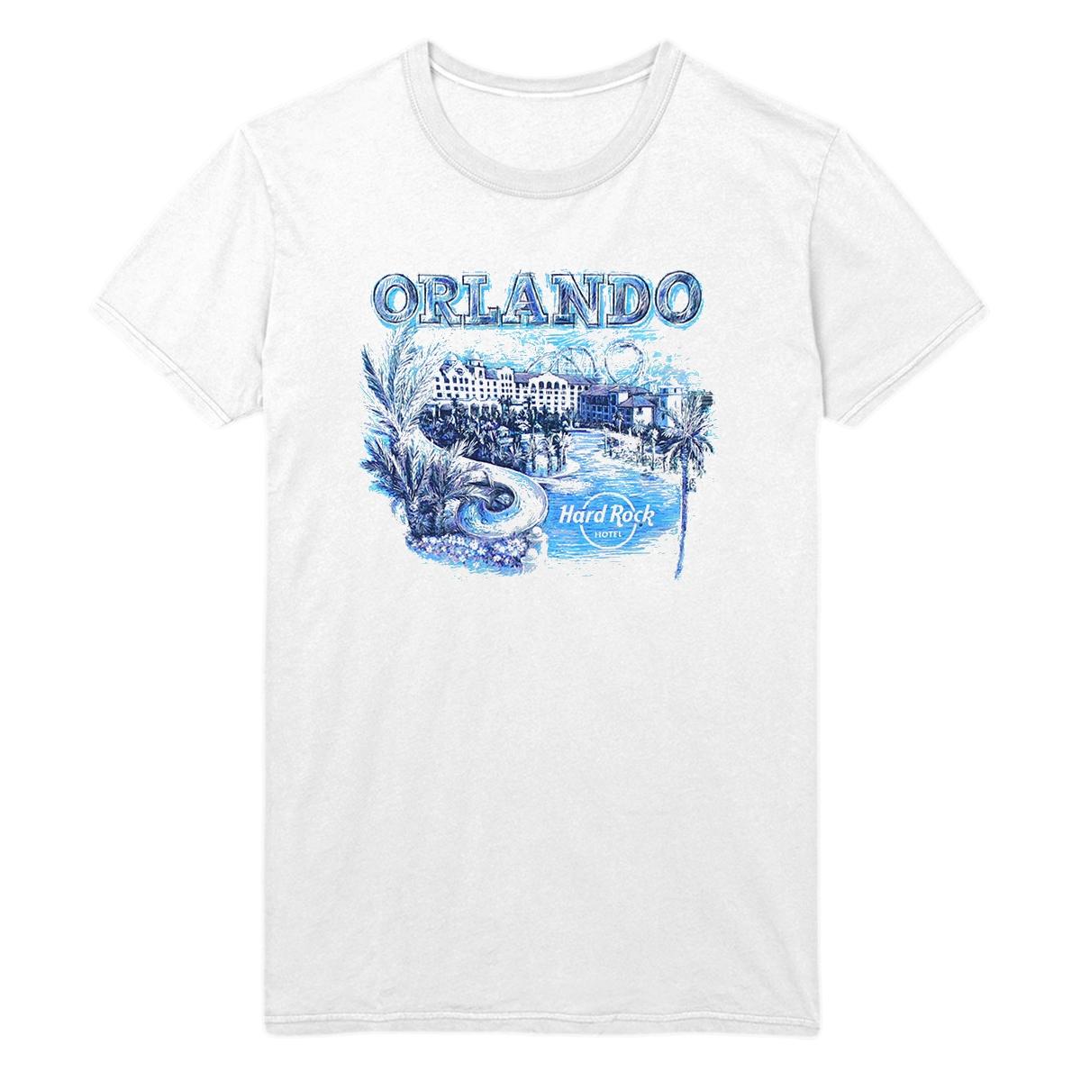 Ladies Cityscape Tee White, Orlando Hotel 0
