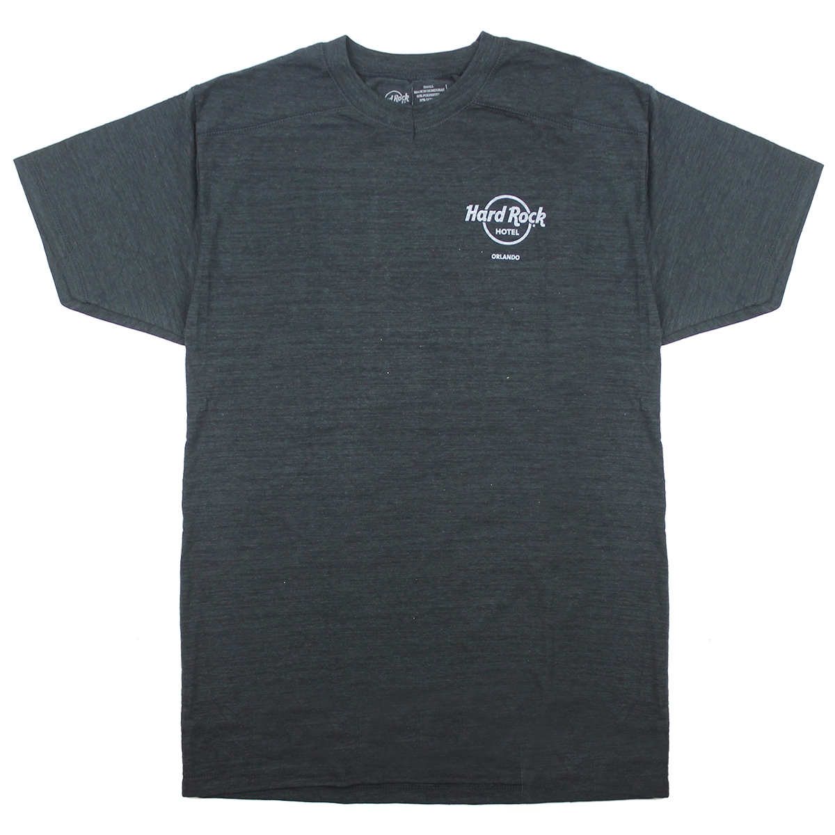 Mens Left Chest Logo V-neck Tee Black, Orlando Hotel 0