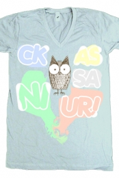 Hoot Hoot V-Neck (sea foam)
