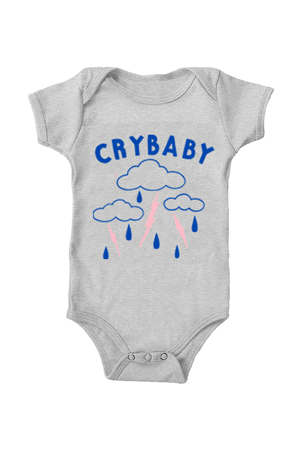 5cbc13c391d7 Cry Baby Onesie (Heather Grey) - Kevin Morby - Official Online Store on  District LinesDistrict Lines