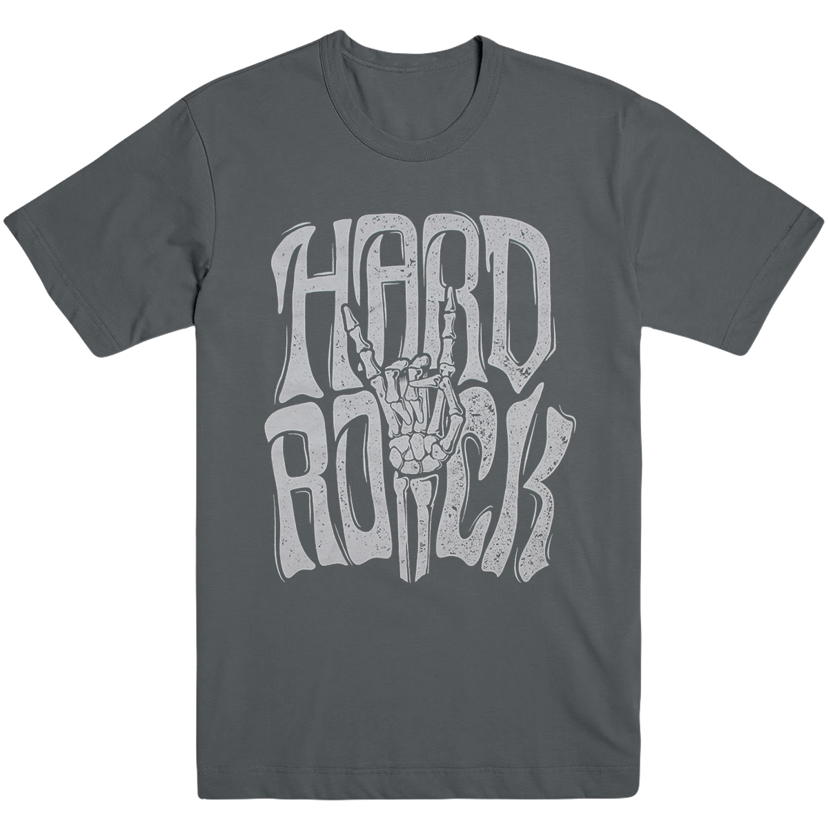 Mens Rock On Hand Sign Grey 0
