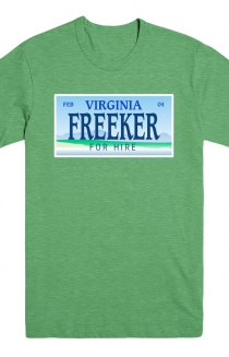 License Plate Tee (Green Triblend)