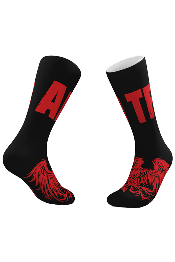 Bird Socks (Black/Red)
