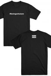 #beingwhoiam Tee (Black)