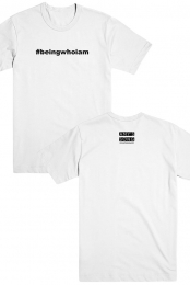 #beingwhoiam Tee (White)