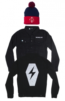 Coffin Denim Jacket + Coffin Logo Beanie