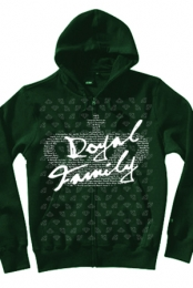 Diamond Pattern Zip Up (green)