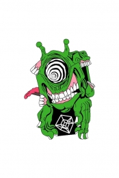 Subtronics x Aaron Brooks Green Cyclops Enamel Pin