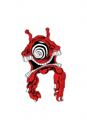 Subtronics x Aaron Brooks Red Cyclops Enamel Pin