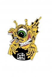 Subtronics x Aaron Brooks Yellow Cyclops Enamel Pin