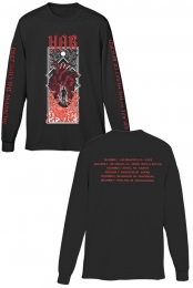 Ablaze Long Sleeve Tee (Black) - YOB