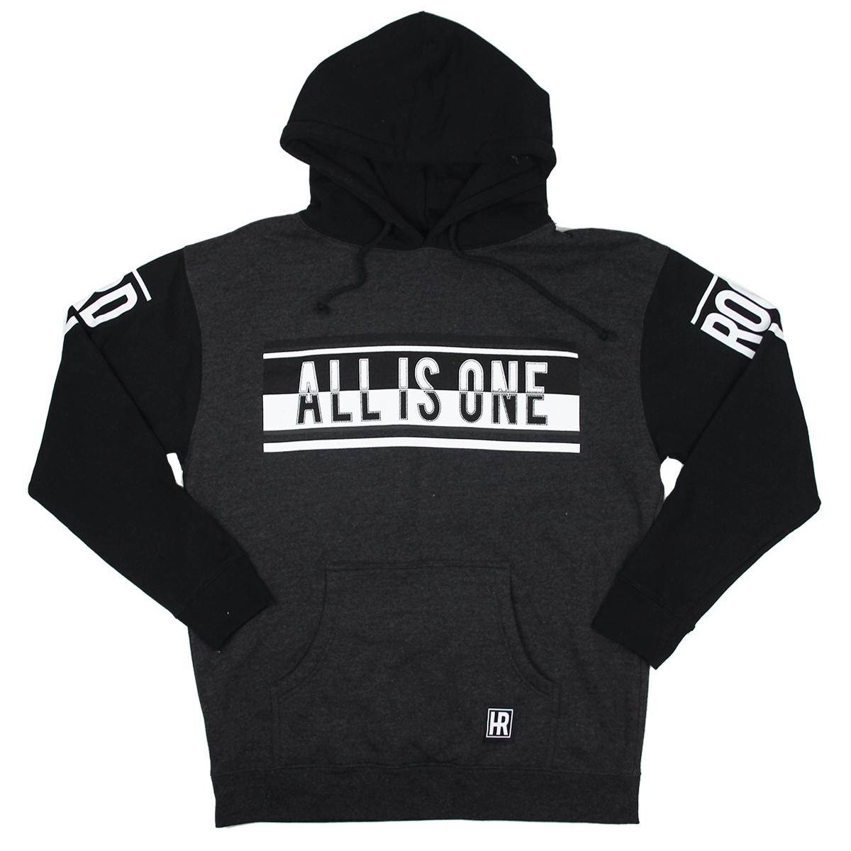 Mens All is One Contrast Sleeve Hoodie Black 0