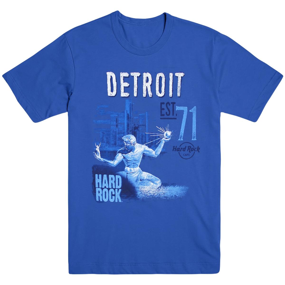 Mens Alt City Tee Blue V2 Detroit 0