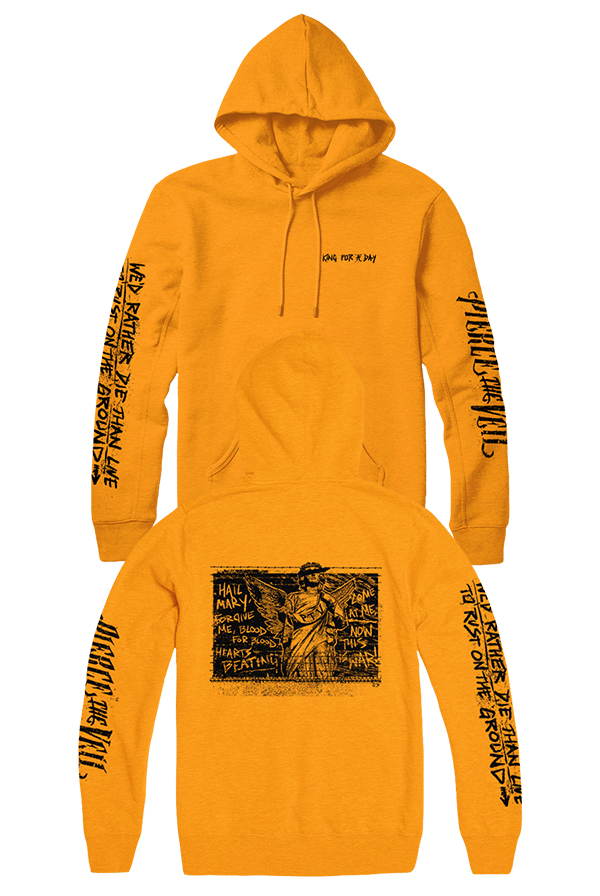 King for a Day Angel Hoodie