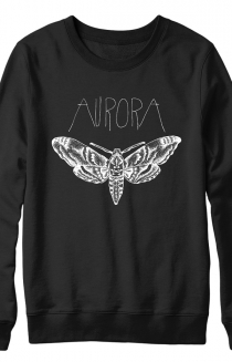 Moth Crewneck Sweatshirt (Black) + Download